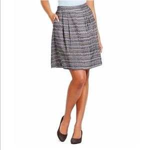 Eileen Fisher Aireal Ikat Pleated Skirt